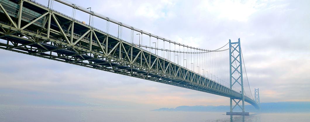 Big bridge over the sea.