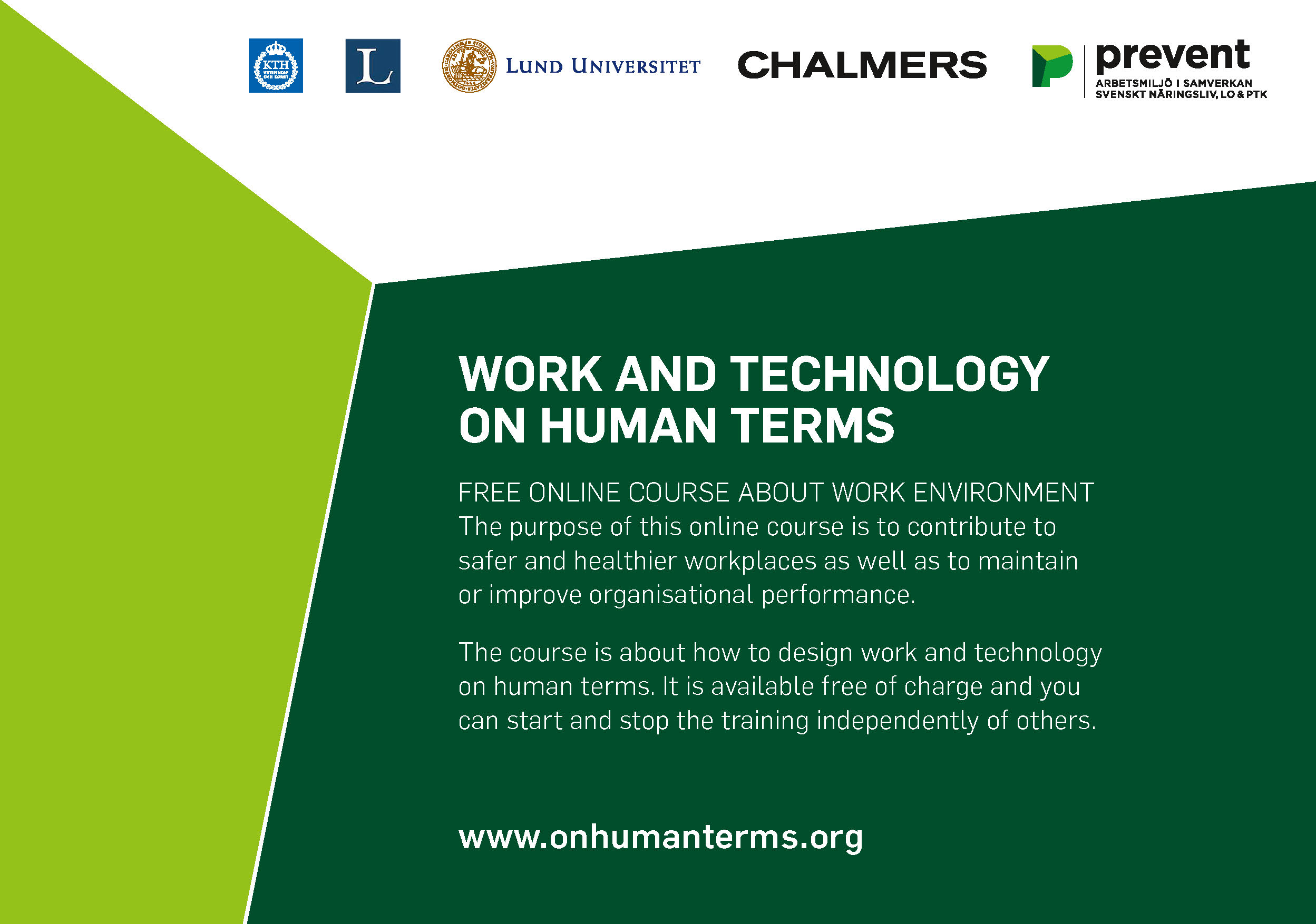 WORK AND TECHNOLOGY ON HUMAN TERMS - FREE ONLINE COURSE ABOUT WORK ENVIRONMENT